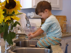 mindful water play