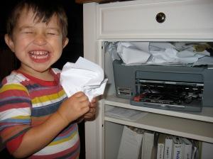 toddler printing