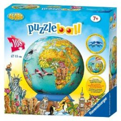 RavensburgerChildren'sWorldMap108pcPuzzleball