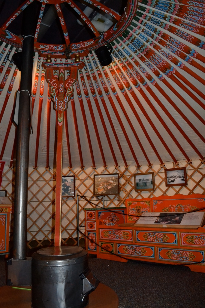Inside a model of a Mongolian ger.
