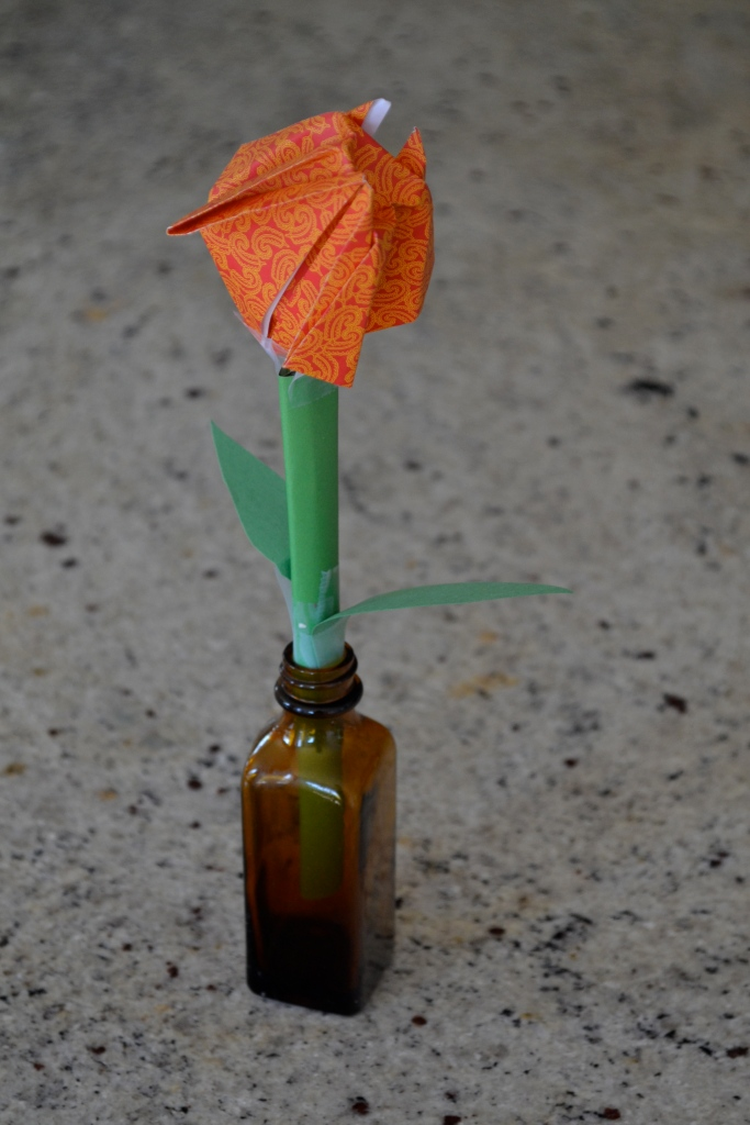 Origami tulip - created by little hands with love!