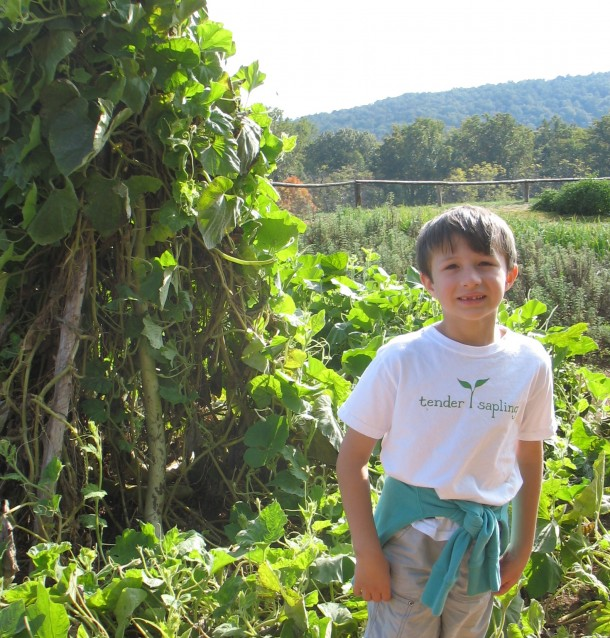 Boy in Monticello garden