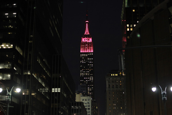 The Empire State Building lit up pink for the International Day of the Girl, 2013 (photo: Plan International)