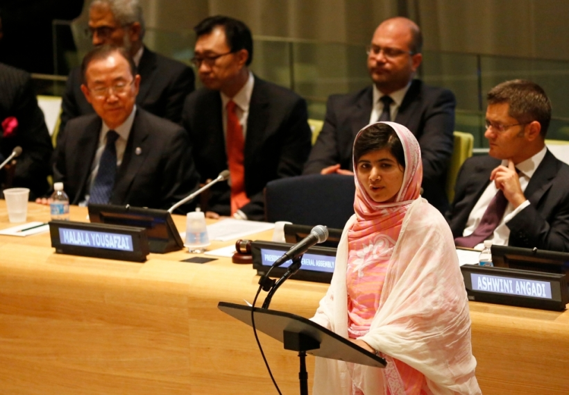 malala addresses UN july 2013