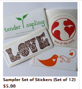 Sampler Set of Stickers small image